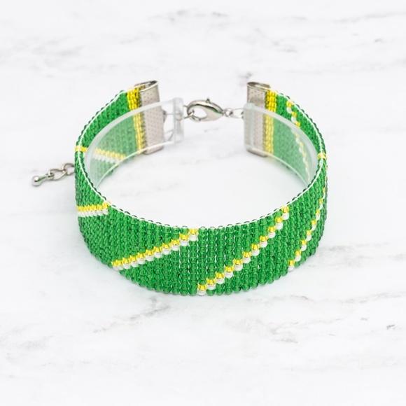 Jewelry - Green Bay Packers Bracelet-Loom Bracelet-Football